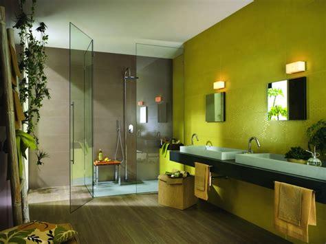 peinture verte chambre salle de bain verte et beige