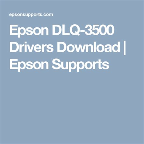 Paralel, seri ve usb arabirimlerine standart olarak sahiptir ve kompakt tasarımı ve kablo yönetim sistemiyle masalara kolayca yerleştirilebilir. TÉLÉCHARGER DRIVER EPSON DLQ-3500