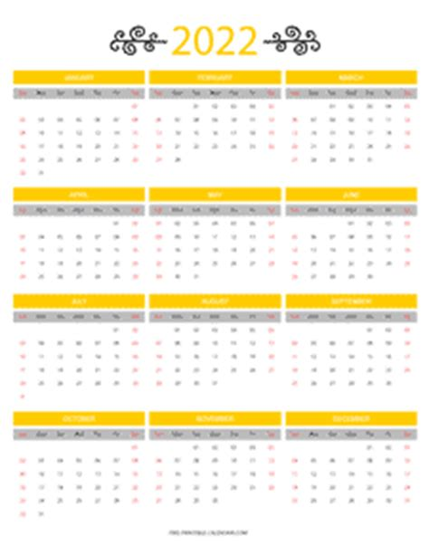 month colorful calendar printable calendars