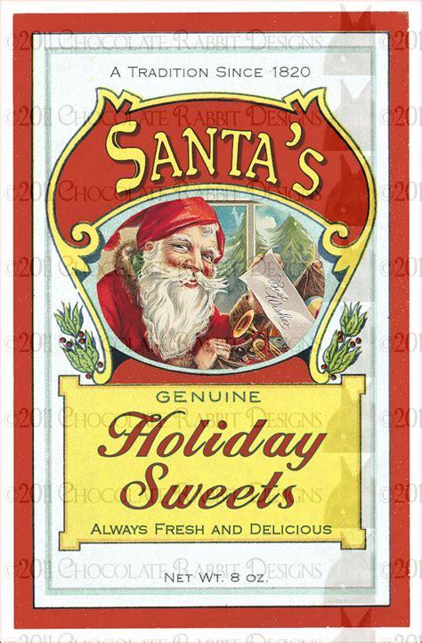 christmas candy vintage label digital   dpi