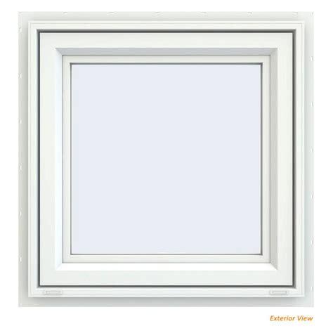 jeld wen        series white vinyl awning window  fiberglass mesh screen