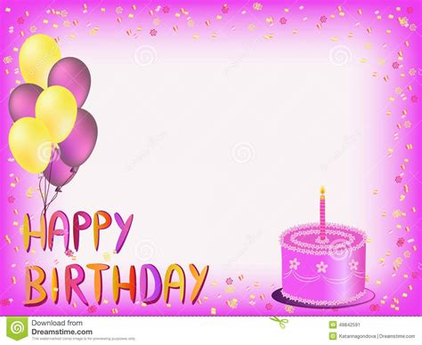 Happy birthday greeting card | Birthday card template free ...