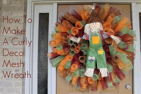 How To Make A Curly Deco Mesh Wreath  Miss Kopy Kat