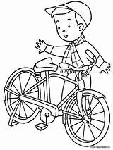 Coloring Pages Bicycle Printable Mycoloring sketch template