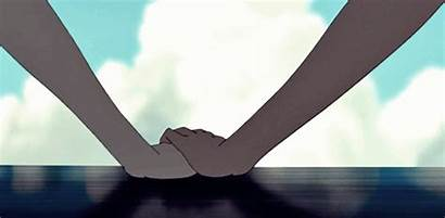 Anime Aesthetic Gifs Hand Couples Summer Giphy