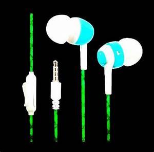 Glow In The Dark Earphones Luminous Neon Headset Flash