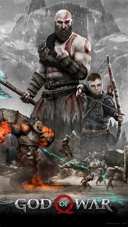 God War 4k Kratos Atreus Wallpapers Iphone