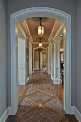 entry transition   wood  kitchen hall house