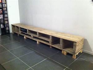 un meuble tv sur mesure en palette blog zodio deco With meuble zodio