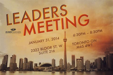 leaders meeting nation gta church toronto