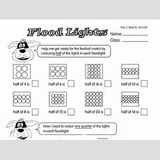 Floodlight Fractions A Year 3, Fractions Worksheet