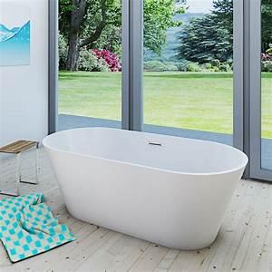 Freistehende Armatur Wanne : acquavapore freistehende badewanne wanne acryl fsw01 ~ Michelbontemps.com Haus und Dekorationen