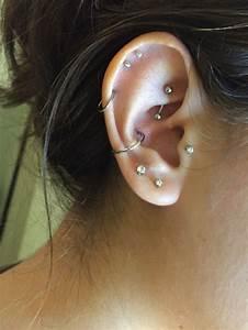 Ear piercings (: Rook. Conch. Tragus. Cartilage.   ear ...