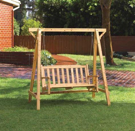 diy wooden garden swings plans free