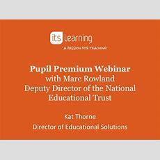 Itslearning Pupil Premium Webinar With Marc Rowland