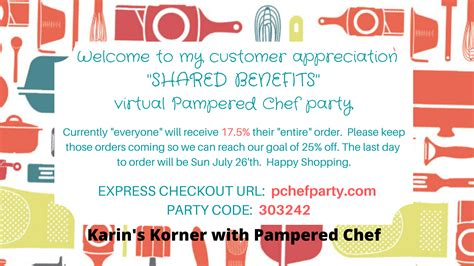 karins korner advanced director  pampered chef