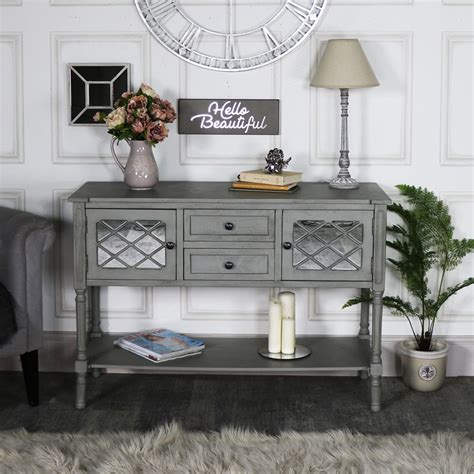 Mirrored Sideboard Furniture by Large Grey Mirrored Sideboard Storage Vienna Range