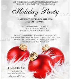 Christmas Holiday Party Flyer Template Free