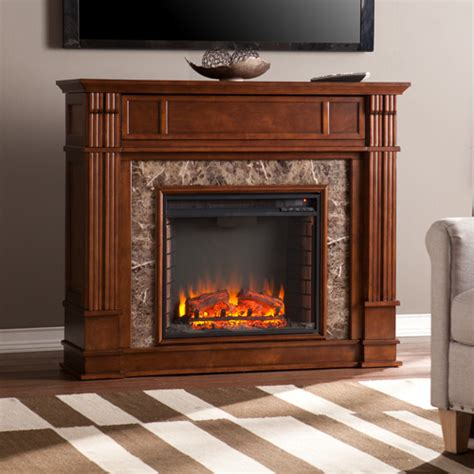 electric media fireplace 48 quot highgate faux electric media fireplace whiskey