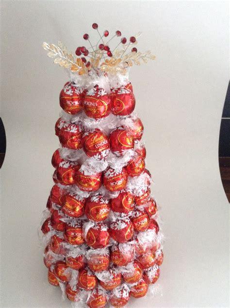 red lindt chocolate tree  sweetie trees goodies