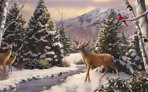 Winter Wallpaper With Animals - winter animal wallpaper wallpapersafari