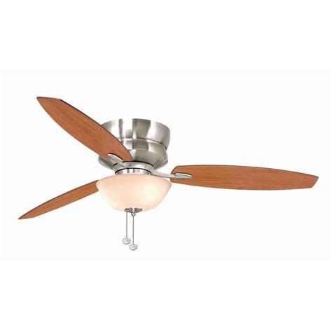 hton bay rapallo 52 quot brushed nickel ceiling fan flush