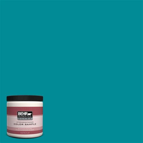 behr premium plus ultra 8 oz 510b 7 empress teal matte