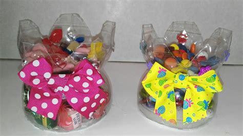 dulceros con botellas de plastico recicladas manualidades y manolidades