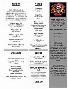 catering menu templates catering menu for website With catering menus templates