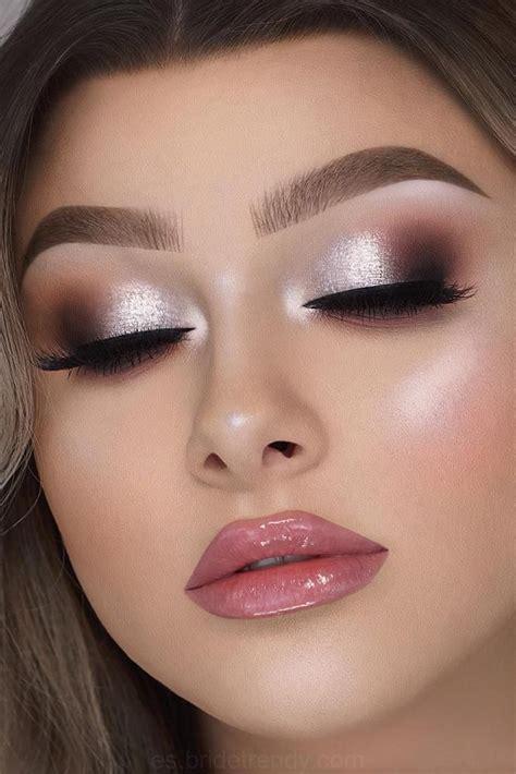 atractiva novia ideas de maquillaje silver makeup eyeshadow makeup makeup