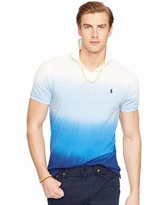 Polo V : polo ralph lauren custom fit dip dyed polo shirt in blue for men lyst ~ Gottalentnigeria.com Avis de Voitures