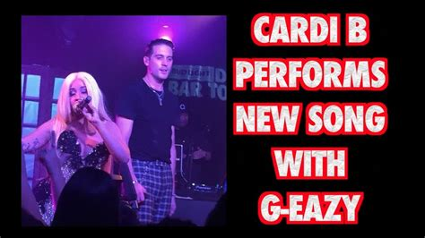 cardi b youtube videos cardi b performs new song with g eazy youtube