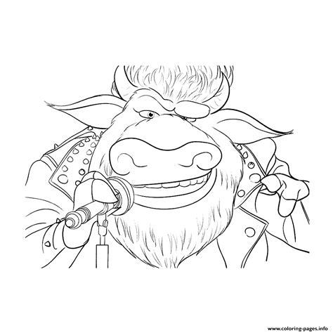 rocker animal  sing coloring pages printable