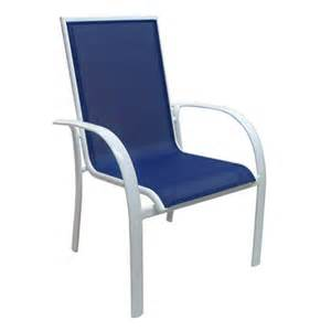 aluminum sling stack chair blue sam s club