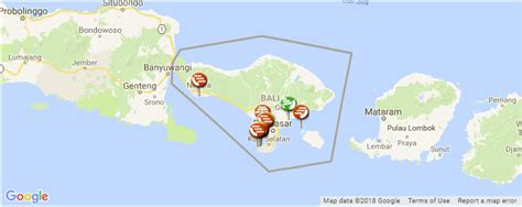 guide  surfing  bali spot map surf camps  surf info