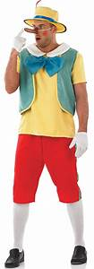 Mens Fairy Tale Puppet Pinocchio Fancy Dress Adults ...