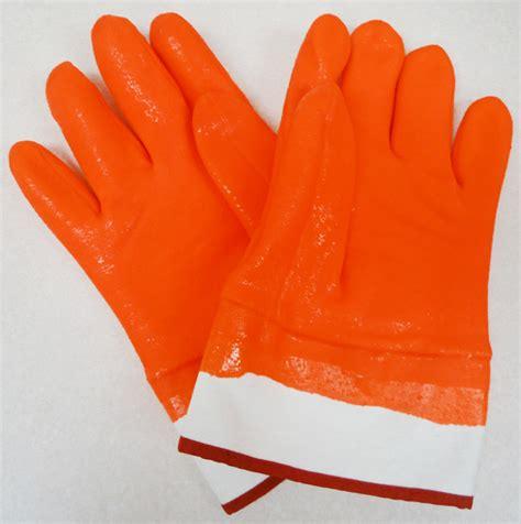 orange crab gloves