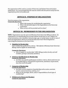 creating a constitution or by laws With constitution and bylaws template