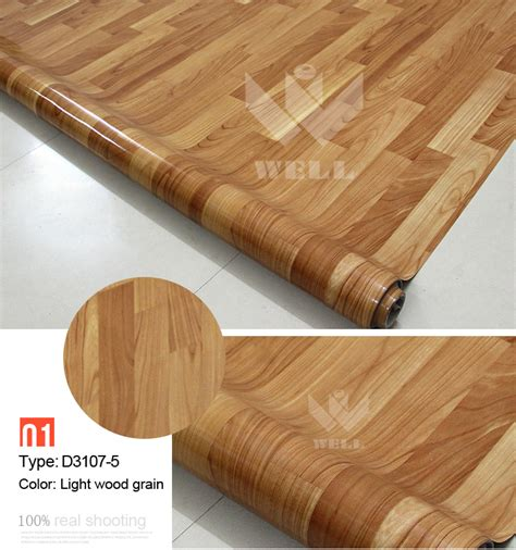 pvc floor covering  indoor usage natural wood