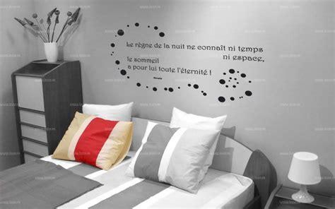 citation chambre sticker citation le règne de la nuit le sommeil a