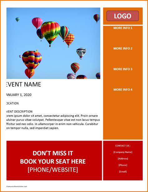 event flyer templates free event flyer templates free authorization letter pdf