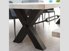 Rustik Industrial Wood Dining Table & Metal Legs