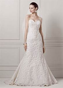David39s bridal sweetheart beaded lace trumpet wedding for Wedding gown preservation davids bridal