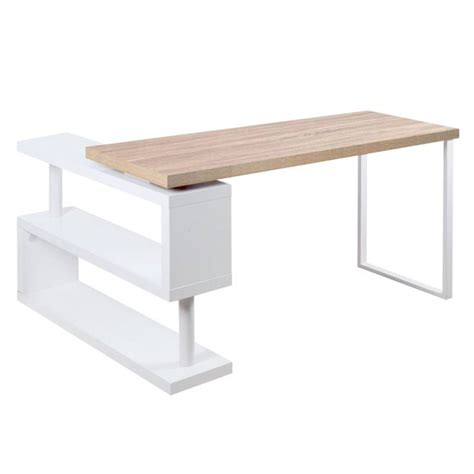 Computer Desks For Small Spaces Australia by Corner Office Desk And Bookshelf In Wood And White Buy