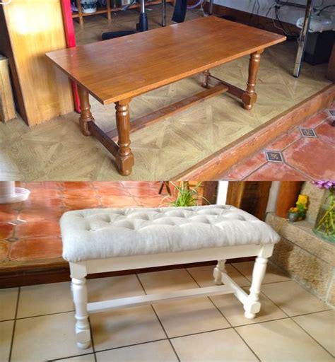 transformer une vieille table basse en banquette cosy