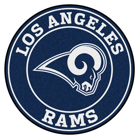 los angeles rams roundel area rug