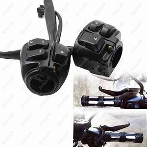2x Motorcycle 1 U0026quot  Handlebar Switches Control Black   Wiring