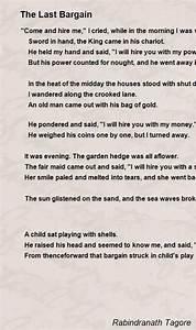 Memo Sample The Last Bargain Poem By Rabindranath Tagore Poem Hunter