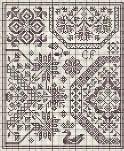 Free Quaker Cross Stitch Pattern