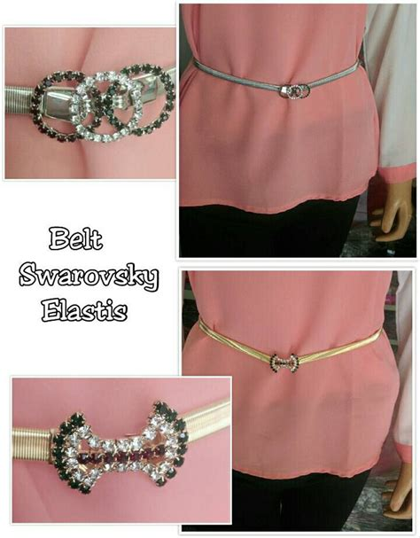 jual belt swarovsky elastis ikat pinggang gesper wanita